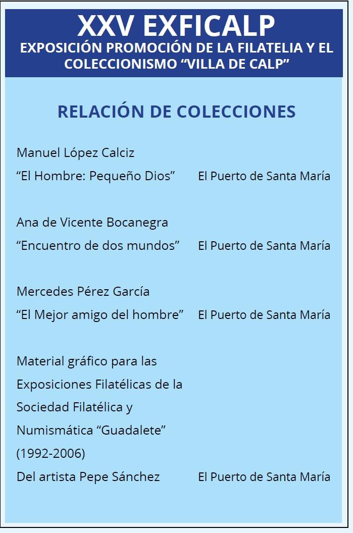 Relación de colecciones